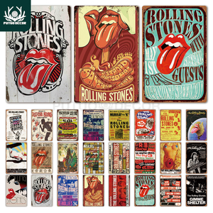 Rock Band Metal Poster Plaque Metal Vintage Metal Tin Sign Wall Decor for Man Cave Bar Pub Man Cave Rock N Roll Decorative Plate(China)