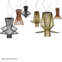 Moderne Foscarini Allegro Ritmico Anhänger Lichter Led kunst Käfig Hängen Lampen Italien Industrielle Suspension Lampe Home Decor Leuchte
