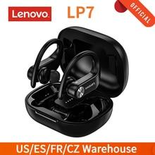 Orijinal Lenovo LP7 TWS Bluetooth 5.0 kulakiçi gerçek kablosuz kulaklık çift Mic ile kulaklık spor kulaklık şarj kutusu