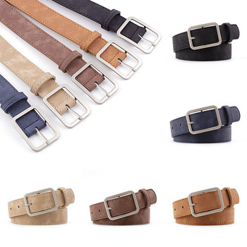 Square Metal Buckle Pin Waistband Thin Skinny Wasit Belt Streetwear Pu Leather Waistband Belts Women Jeans Cinturon Black Brown цена 2017