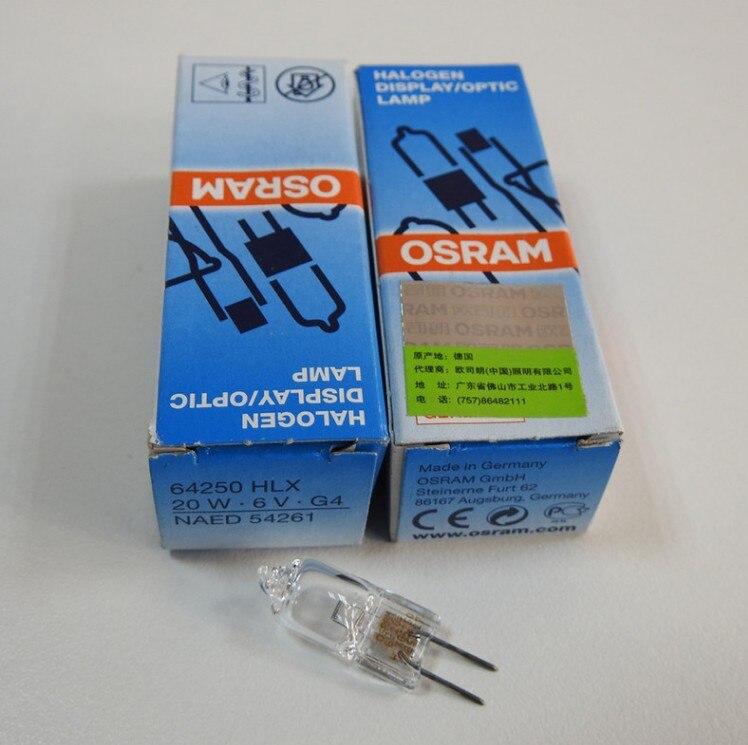5 PCS OSRAM 64250 6v20w Microscope Lamps Jc Halogen Lamp 6v 20w Projector Bulbs