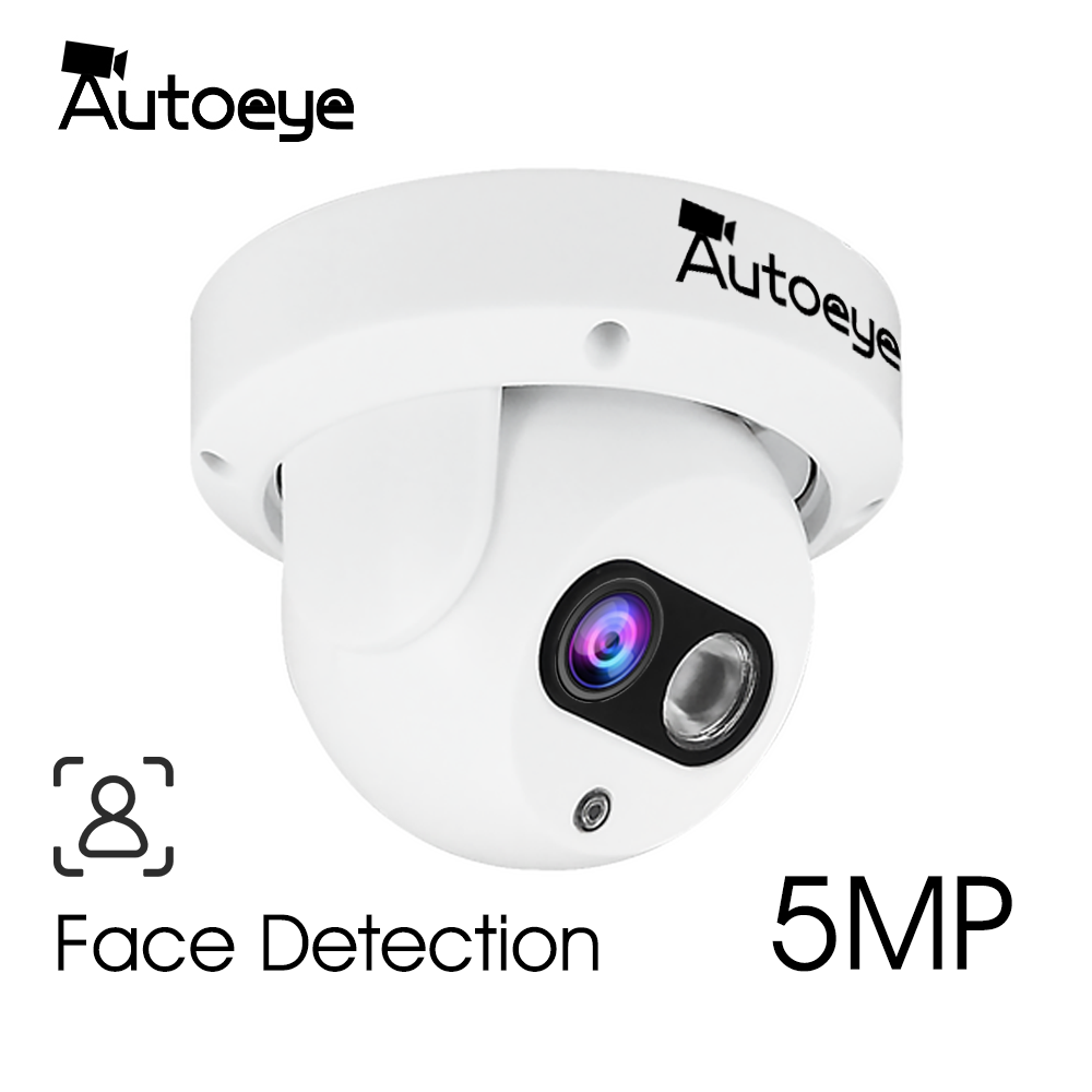 AUTOEYE 5.0MP/2MP 1080P SONY IMX307 AHD XVI Face Detection Camera H.265X CCTV Security Video Surveillance Indoor Dome Camera
