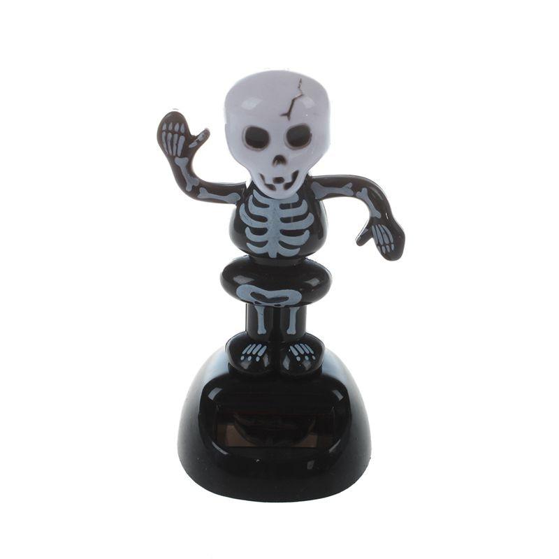 Promotion! Solar Power Dancing Figure Gruesome Skeleton,Novelty Desk Car Toy Ornament