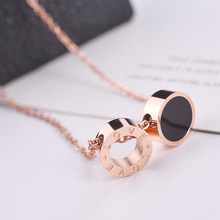 Choker Moana Collares Kolye Steel Necklace Female Japanese Korean Chao Ren Student Simple Rose Clavicle Chain Jewelry Wholesale