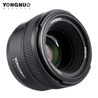 YONGNUO YN50mm F1.8 Lens 6 Elements in 5 Groups Large Aperture AF Auto Focus FX DX Full Frame Lens for Nikon D800 D300 D700