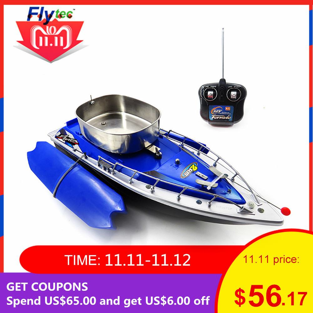 Flytec 2011 - 3 RC Boat Intelligent Wireless Electric Fishing Bait Remote Control Boat Fish Ship Searchlight Toy Gifts For Kids