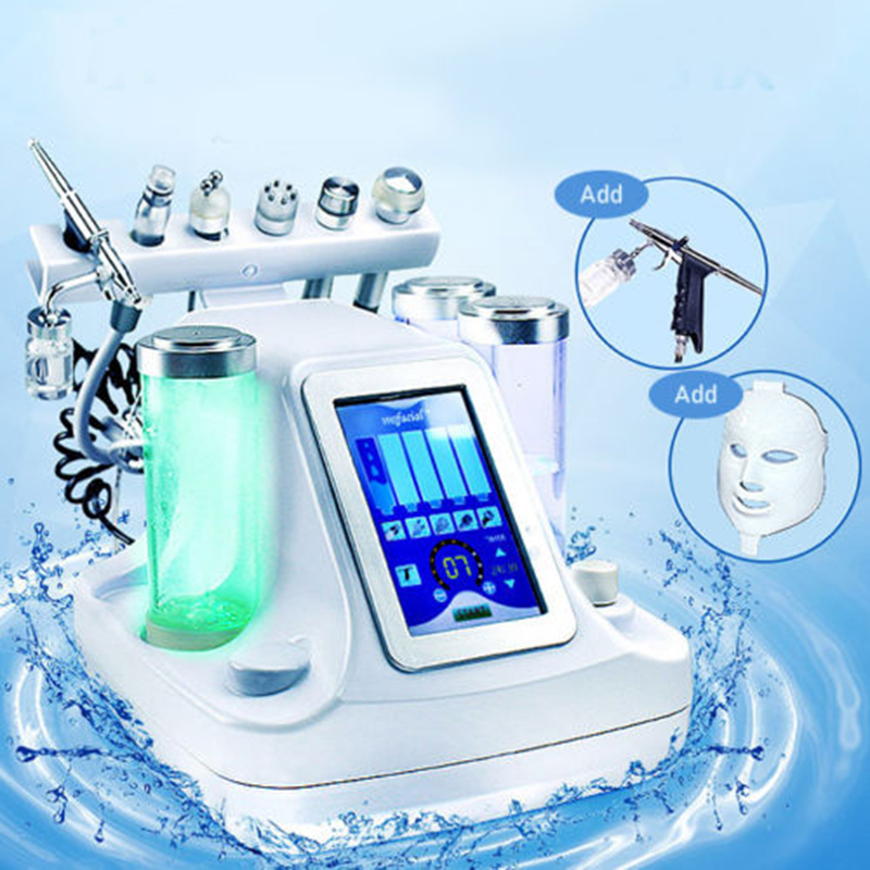7 In 1 Dermabrasion Vacuum Face Cleaning Hydra Facial Machine Jet Peel Massage Skin Care Machine Radio Frequency Beauty Device