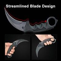 Garra de aço facas faca de caça cs ir tático garra pescoço faca acampamento caminhada ao ar livre ferramentas sobrevivência caça faca