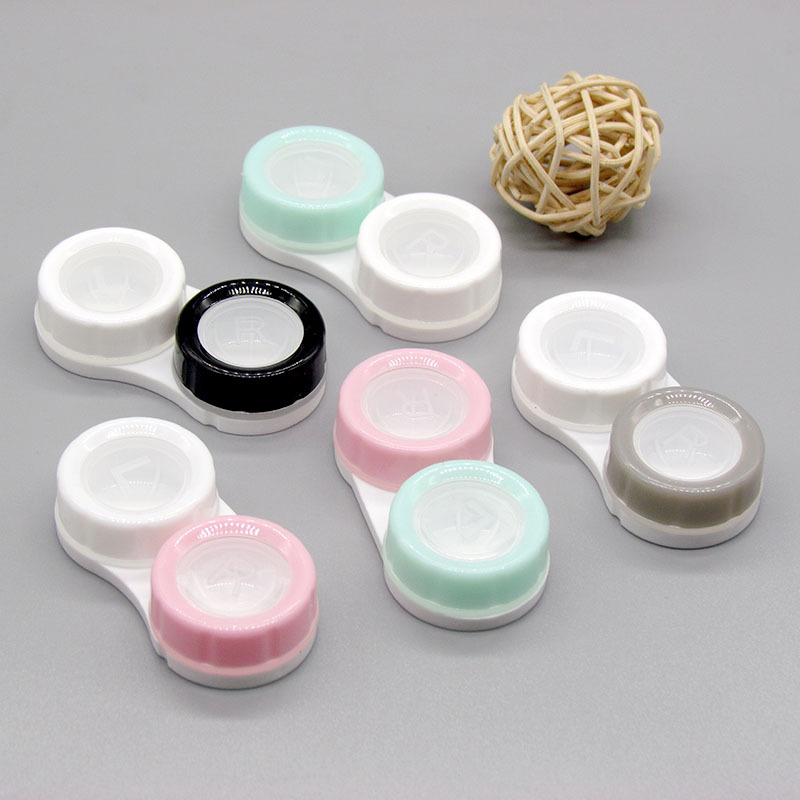 1pcs Simple Contact Lens Case Box Eyewear Accessories Cute Travel Box Container for Eyes Lenses Random Color Wholesale