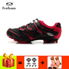 TIEBAO cycling shoes men sapatilha ciclismo mtb sneakers add cleats breathable self-locking red superstar racing