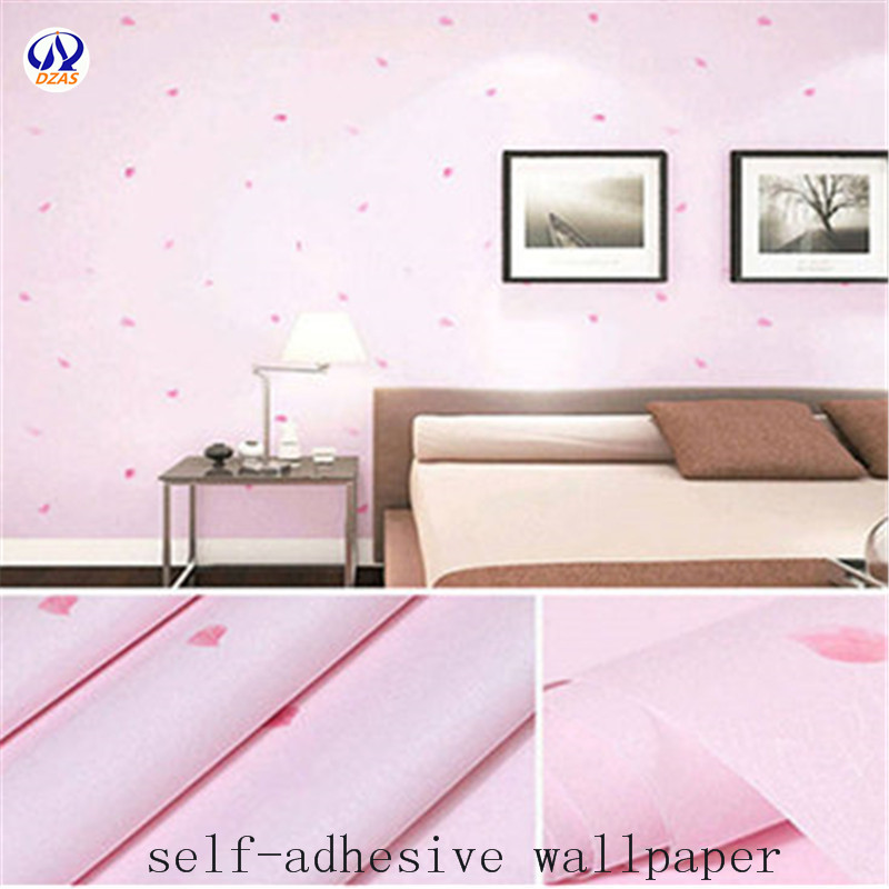 High-quality Pink Thickened Bedroom Living Room 3D Waterproof Self-adhesive Wallpaper