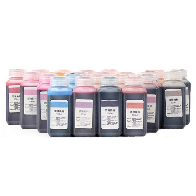 Agent de teinture à lalcool pour cuir, Agent de teinture, 100ml, peinture artisanale pour cuir, 16 couleurs, sculpture