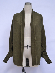Image 4 - Fitshinling oversized camisola cardigan roupas femininas retalhos batwing manga longa outerwear feminino inverno casaco de tamanho grande