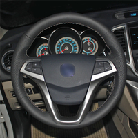Car Steering Wheel Cover Hand stitch on Wrap Cover Car interior decoration For Changan CS35 EADO