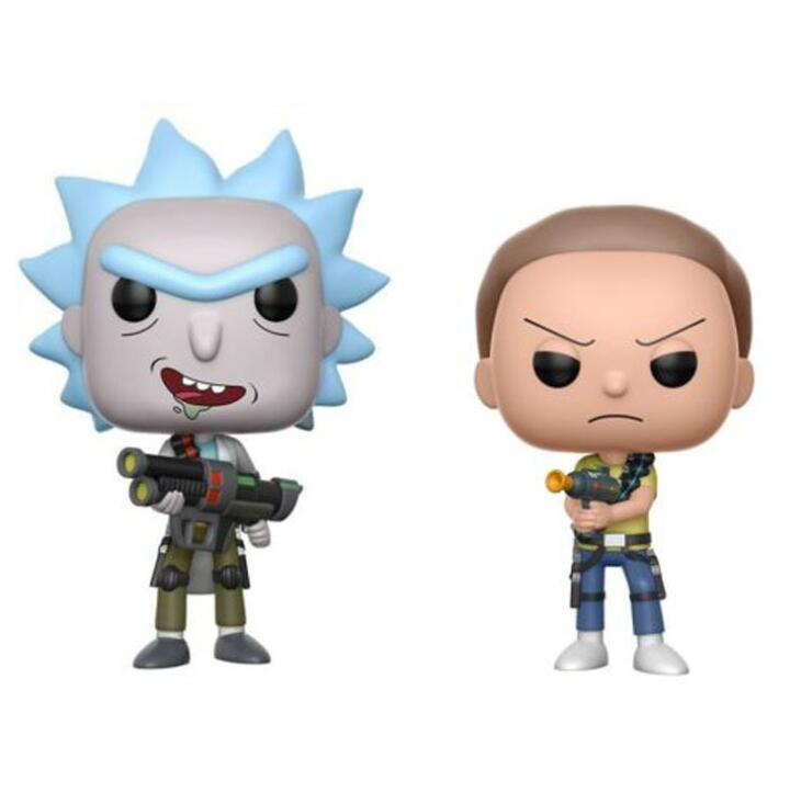 Funko POP 2020 Rick And Morty MR MEESEEKS PICKLE RICK With Laser Collection Model Kids Toys Action Figure Toys For Children