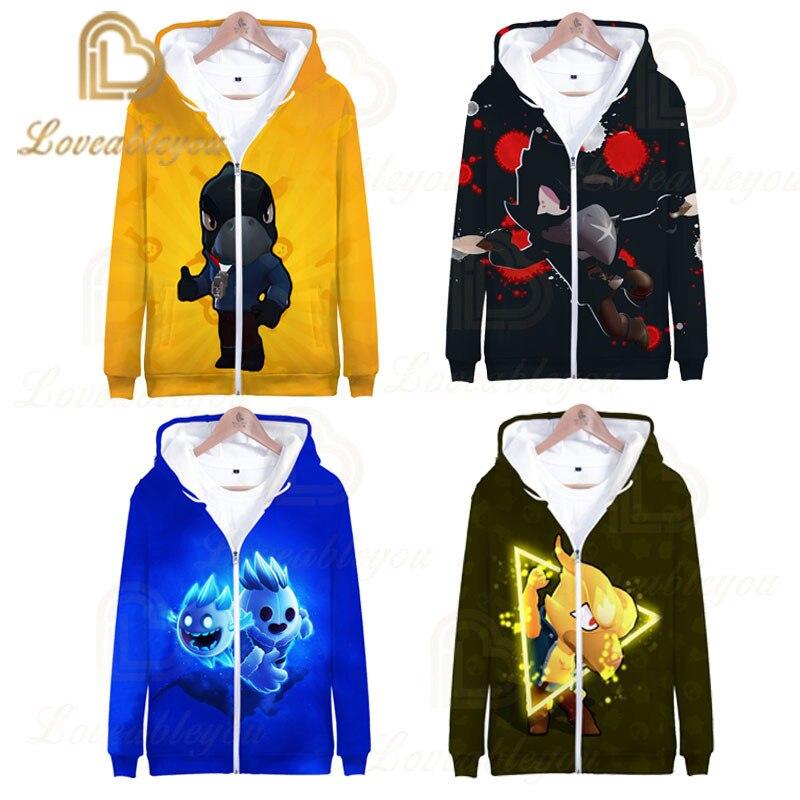 2020 Games Unisex Hoodie Cosplay Gene Leon Hip Hop Hooded Sweatshirt Hoody Hoodie Costume Girls Boys Clohting Zipper Jackets Top