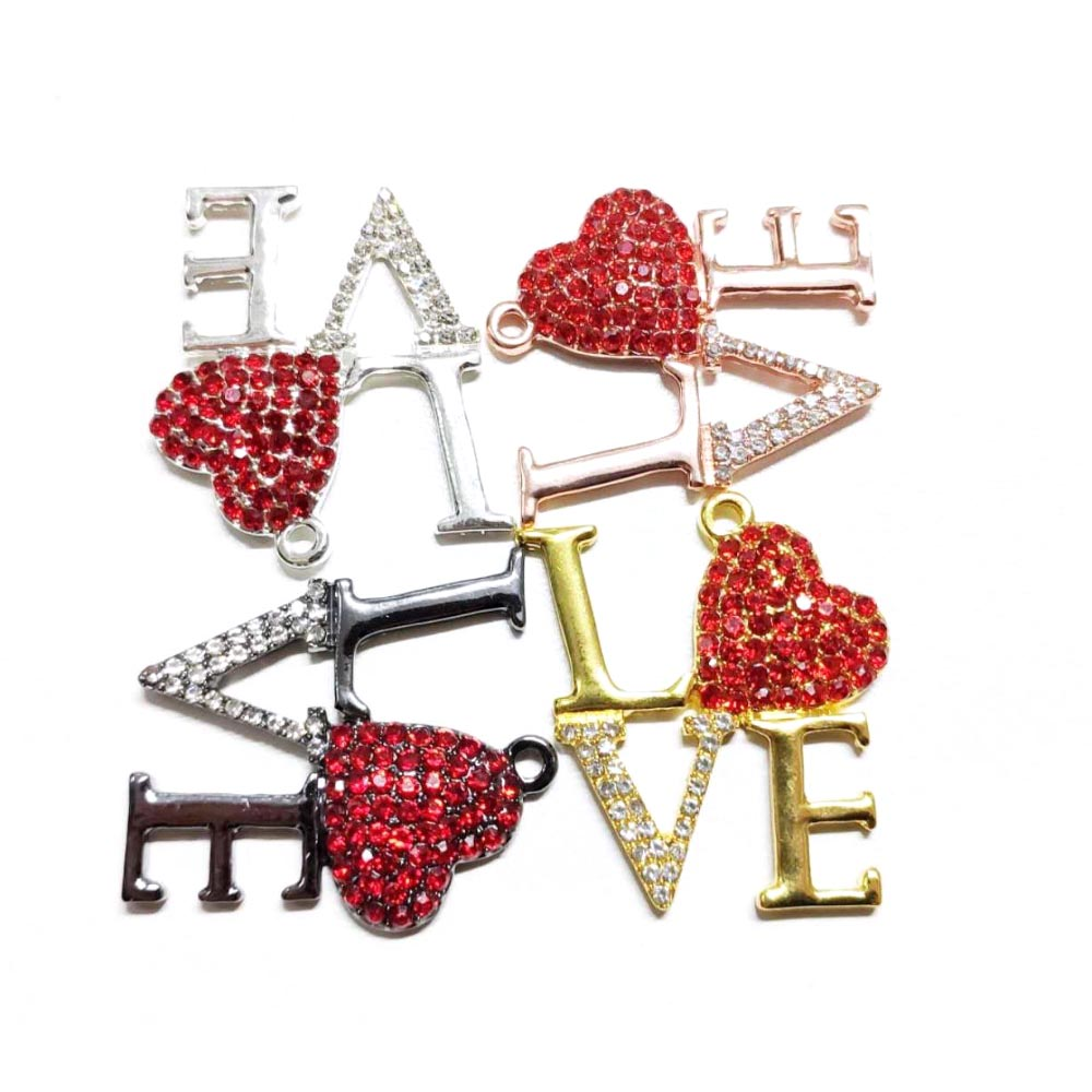 10pcs Letter Love Charms for Women DIY Jewelry Accessories L46