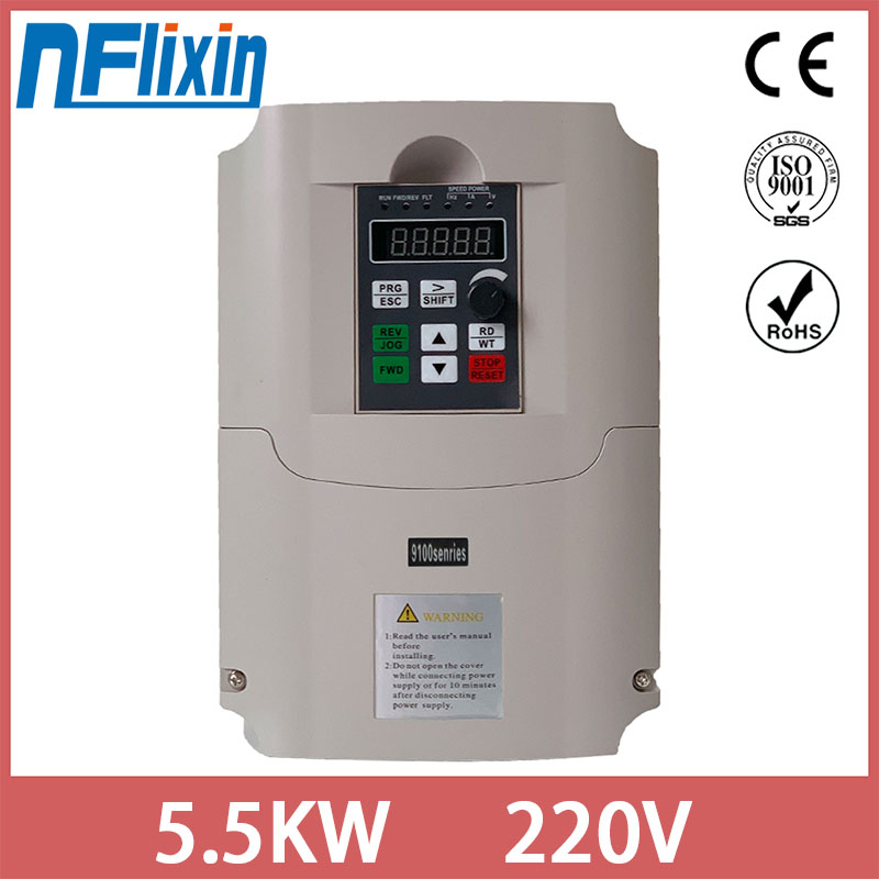 Hot Sale! 220V <font><b>5kw</b></font> VFD CNC Spindle <font><b>motor</b></font> driver speed controller variable frequency drive VFD Inverter 1HP Input 3HP Output image