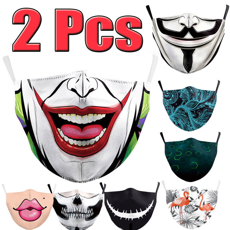 2Pcs New Unisex Anti-Infection Virus Face Mouth Masks Cover Reusable Protection Dust Breath Washable Masks Proof Bacteria Mask