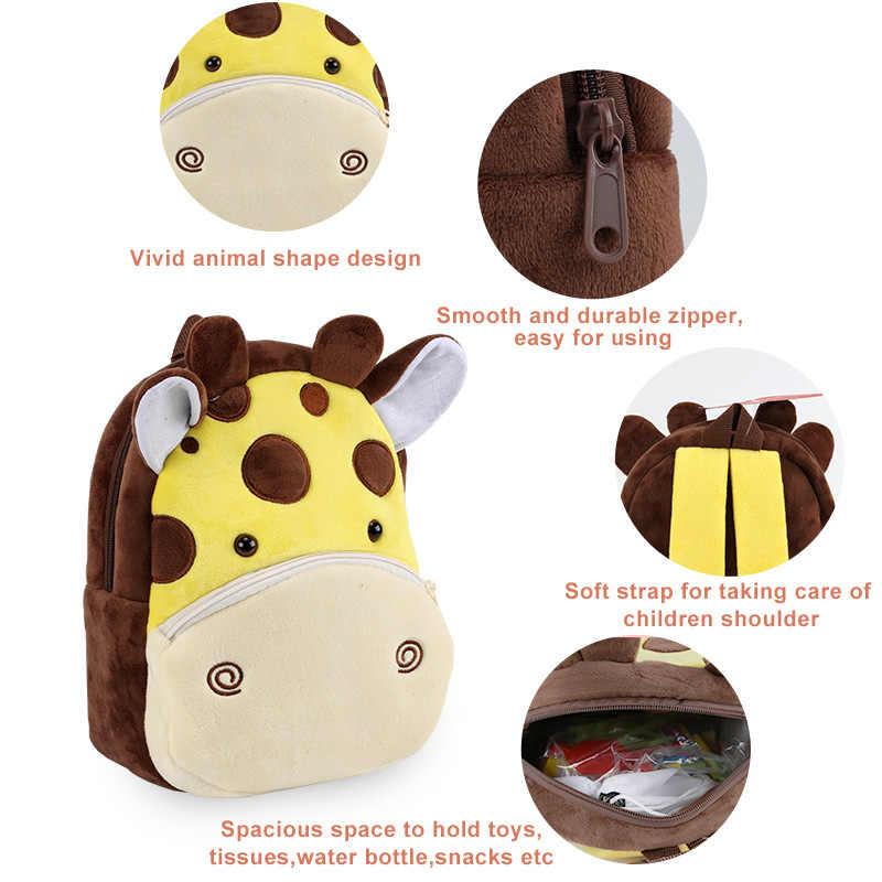Backpack Plush Cute Cartoon Animal Bag Children Kids School Gift JJ
