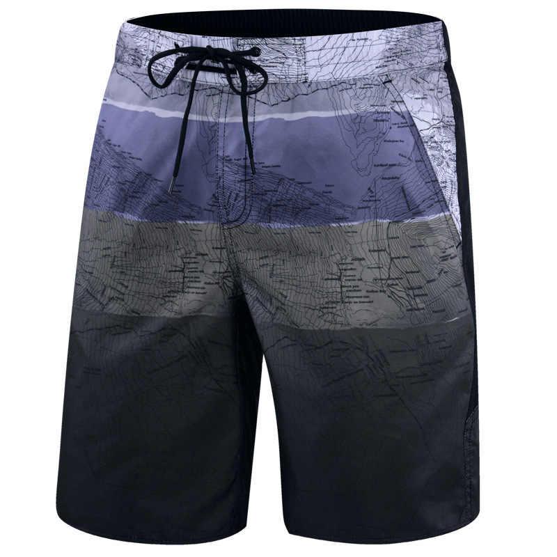Maillot de bain à séchage rapide pour hommes, grande taille, imprimé, pantalon de bain, short, été, 2020