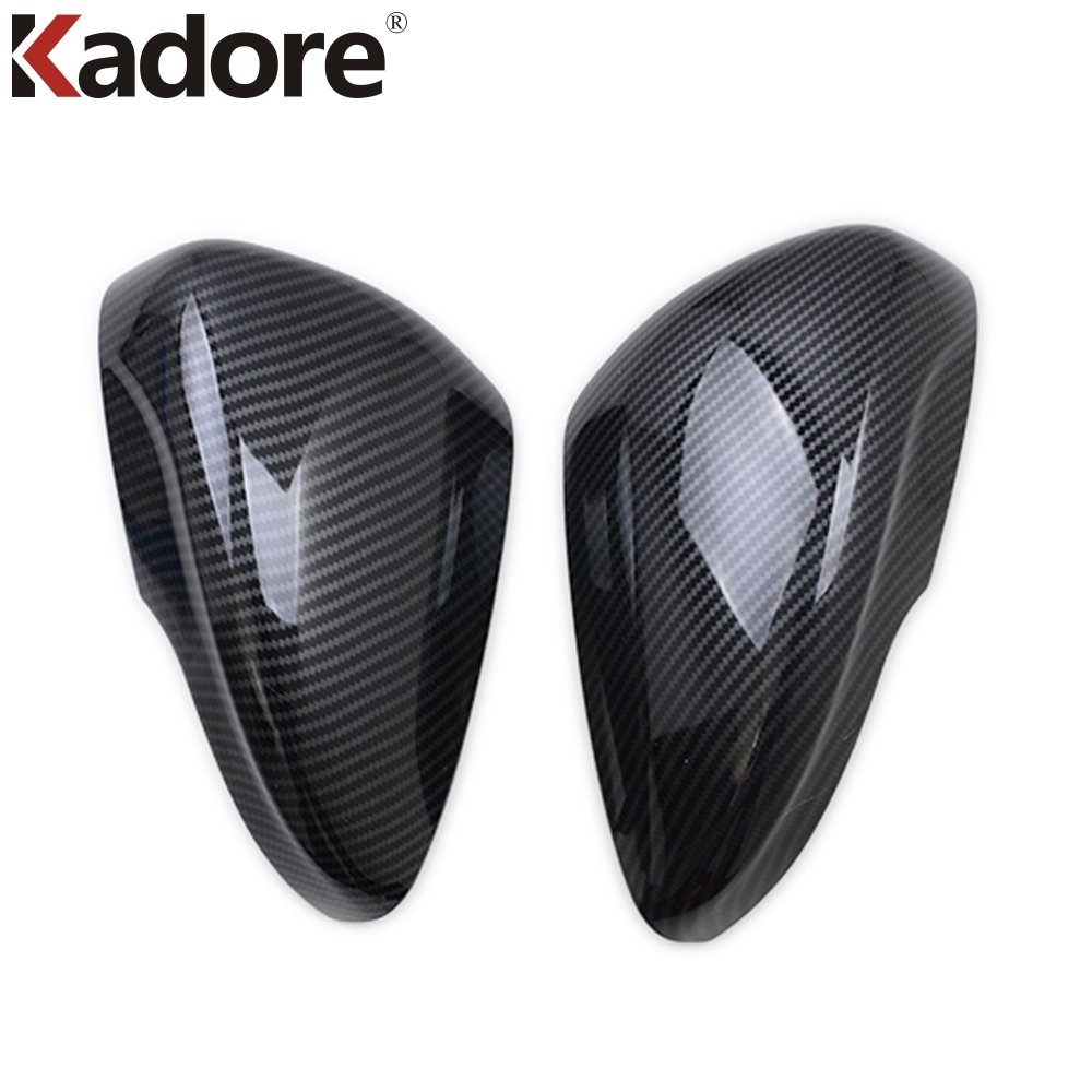 For <font><b>Ford</b></font> <font><b>Focus</b></font> 2019 2020 Carbon Fiber Exterior Accessories Rear View Rearview <font><b>Side</b></font> <font><b>Mirror</b></font> Chrome Trim Car Covers Protector image
