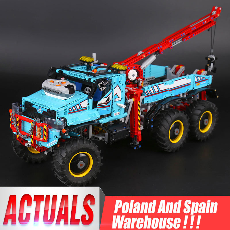 20056 Technic ultimate All Terrain 6X6 truck set building blocks bricks toy Model compatible <font><b>Legoing</b></font> <font><b>42070</b></font> Child Christmas Gift image