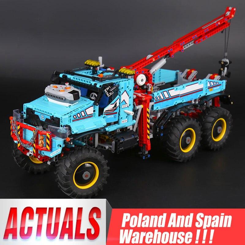 20056 Technik ultimative Alle Gelände 6X6 lkw set bausteine ziegel spielzeug Modell kompatibel Legoing 42070 Kind Weihnachten Geschenk