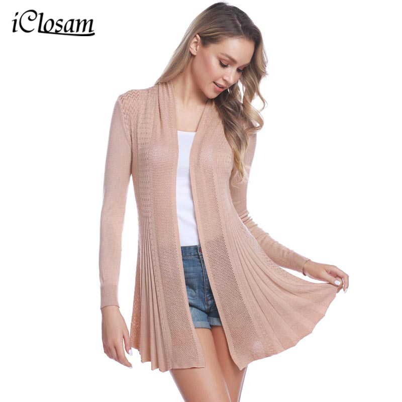 Women Ivory Open Front Gothic Asymmetric Tail Ribbed Hem Sweater Cardigan Top