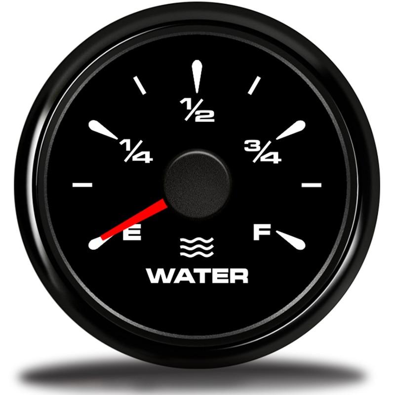 52mm Waterproof Digital Fuel Level Gauge Meter for Car Truck 240-33ohm Black Hot