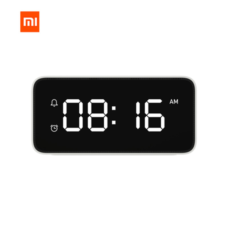 Original Xiaomi Mijia Xiaoai Smart Voice Broadcast Alarm Clock Smart Bedside Music Desk Clock Work with Mi Home App image