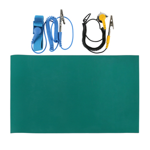 Image 2 - Alfombrilla antiestática ESD de 50x40CM para mesa manta antiestática, cable para tierra y muñequera para trabajo de reparación de BGA, almohadilla para soldar PCB