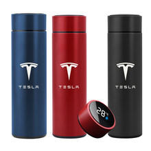 500ML Intelligent Thermos Temperature Display Customize Logo Stainless Steel Vacuum Water Cup For Tesla Model 3 2017 2018 2019