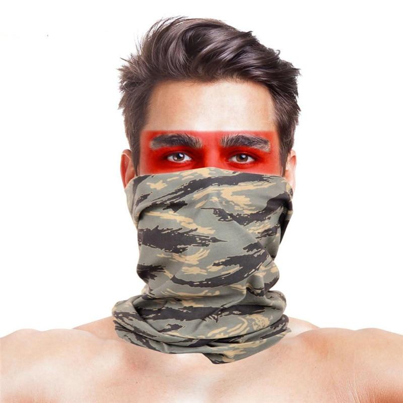 Армейская цифровая рыболовная Бандана с изображением масок для лица из полиэстера ветрозащитная Зимняя Маска для головы и шеи для лица одежда для рыбалки - Цвет: 020