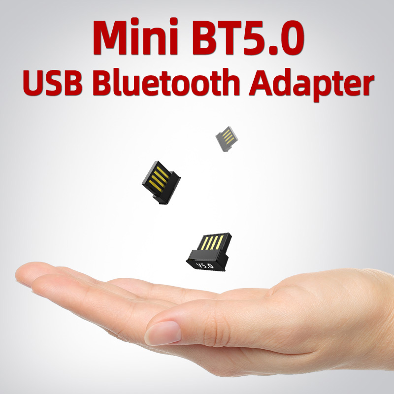 USB Bluetooth Adapter BT 5.0 Computer Wireless Dongles Audio Receiver Transmitter Mini Adapters Laptop Earphone BLE Sender