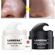 LANBENA Blackhead Remover Mask Facial From Black Dots Remove Blackhead Peeling Pore Strip Fabric Acne Nose Mask Repair Skin Care