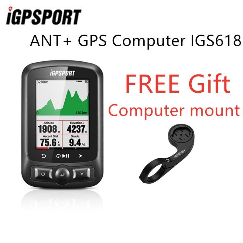 IGPSPORT IGS618 ANT+ GPS Computer Bike Bicycle Bluetooth Wireless Stopwatch Waterproof Cycling Bike Sensor Speedometer Computer