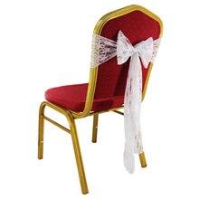 10 шт белая кружевная лента для стула банты повязка на стул