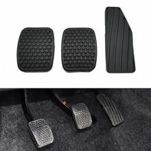 Black Anti-Skid Clutch Pedal Accelerator Brake Pedal Rubber Cover fit For Suzuki Swift