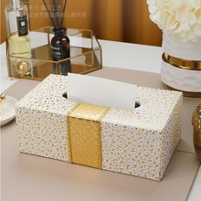 NEW PU Leather Car Home Rectangle Shaped Tissue Box  Fashion Elegant Household living Room Desktop Towel Napkin Holder