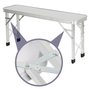Piknik na świeżym powietrzu składany stół przenośny składany stół składany stół krzesło na obóz Camping stół kuchenny składany stół kempingowy hurtownia HWC tanie i dobre opinie CN (pochodzenie) Metal Nowoczesna i minimalistyczna Montaż Rectangle Nowoczesne dropshipping 90*60*70cm aluminum