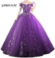 Gardlilac 2020 Off the Shouder Pink Quinceanera Dresses Sweet 16 Dresses For 15 Years Ball Gowns Prom Party Formal Gown