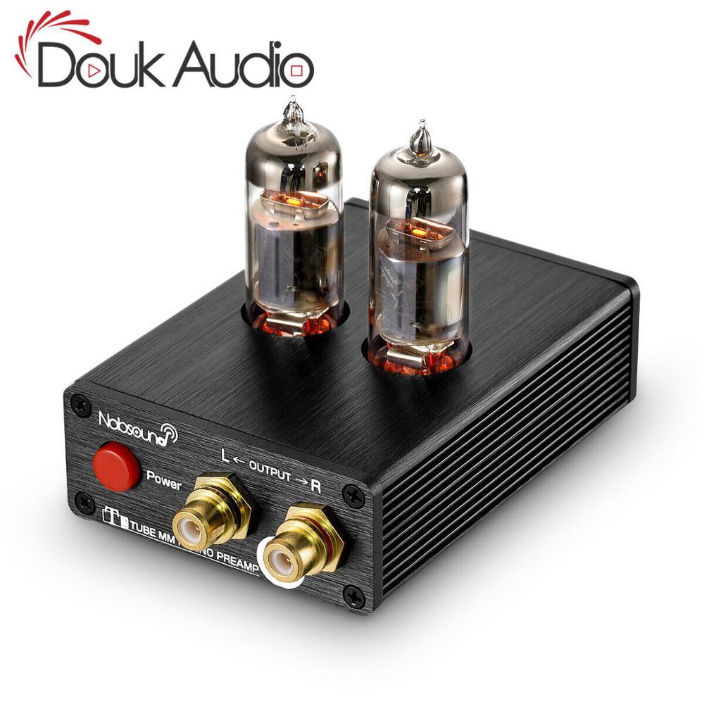 HiFi Tubo de Vácuo 6J5 MM Estéreo Mini Fonógrafo Turntable Phono Preamplifier Para Vinil Vitrola