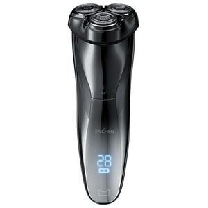 Image 1 - ENCHEN BlackStone3 elektryczna maszynka do golenia 3D inteligentna maszynka do golenia USB ładowanie IPX7 wodoodporna 3 głowica wyświetlacz LCD dla mężczyzn mężczyzna