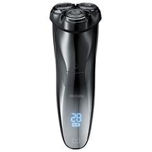 Enchen BlackStone3電気かみそりシェーバー3Dスマートかみそりシェーバーusb充電IPX7防水3ヘッド液晶ディスプレイ男性男性