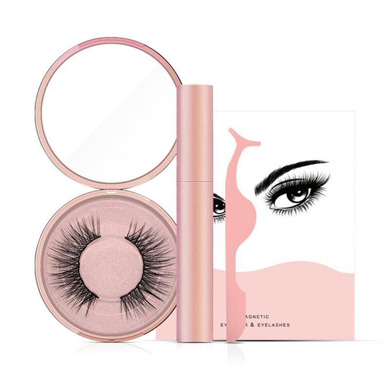 Eye Makeup Kit Magnetic Liquid Eyeliner False Eyelashes Natural Eyes Lashes Extension Tweezers Set Cosmetic Make Up Tool Supply