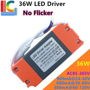 No Flick 36W LED Panel light driver adapter AC85-265V Power supply 300mA 600mA 900mA LED Ceiling light Lighting Transformer image