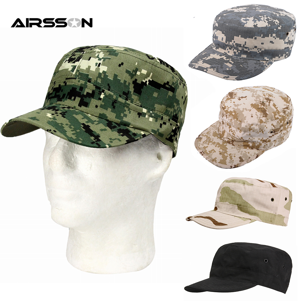 Mens Baseball Cap Camouflage Cap Cotton Military Army Camo Hat Hunting Fishing