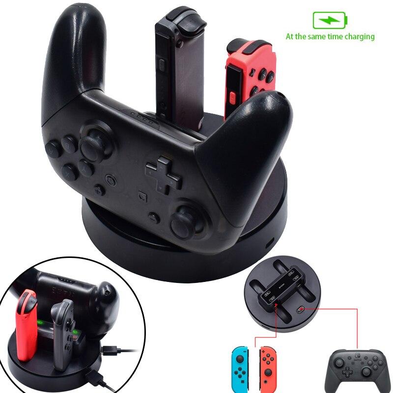 5 в 1 чехол Nintendo switch Joy-con обрабатываются зарядки игровой консоли сиденья зарядки для Nintendo консолью коммутатора многофункциональное сиденье ...