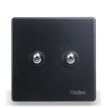 цена на 2-Gang Retro Toggle Switch 86 Type Silver Lever Two Open Double Control Touch Bedside Wall Light Switch 10A220V